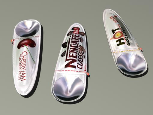SPOON CONTAINER    Designer: Riho Tiivel (Estonia)  Un progetto che riesce ad integrare efficacemente la soluzione dell'imballaggio con la funzione: l'impiego dell'alluminio nella parte strutturale accompagna in maniera eccellente un'estesa funzionalità in differenti campi applicativi. Lo scenario quotidiano e quello dell'emergenza sono affrontati e risolti attraverso un'idea semplice che consente una rapida fruizione del contenuto, garantendo igiene ed una facile trasportabilità. Un design che incrementa lo standard di un utensile creando un eccellente capostipite.
