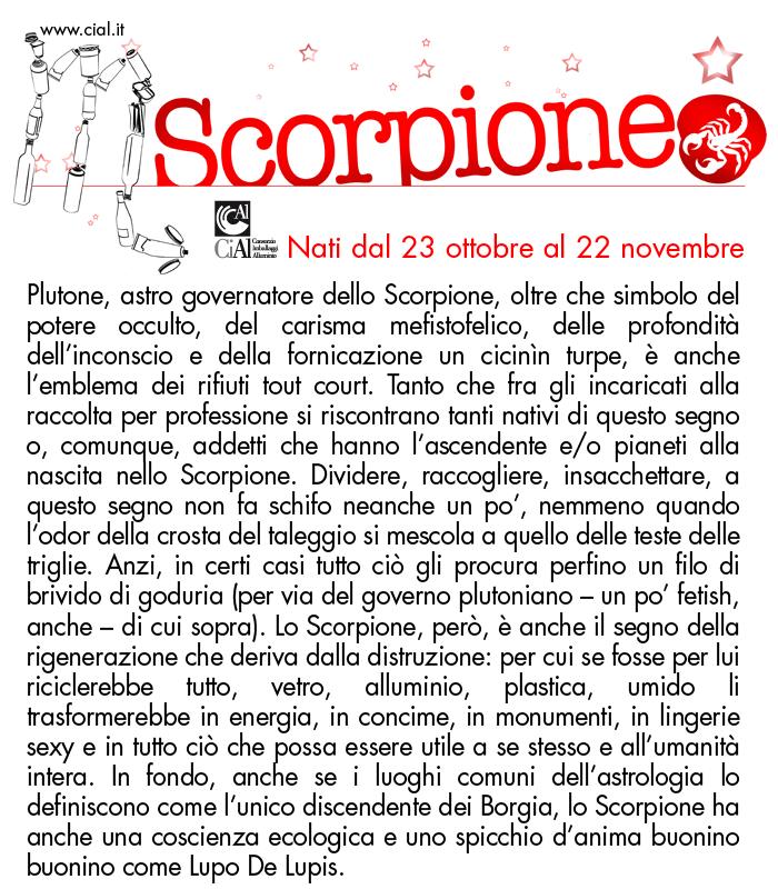 L oroscopo della raccolta differenziata cial - Scorpione e gemelli a letto ...