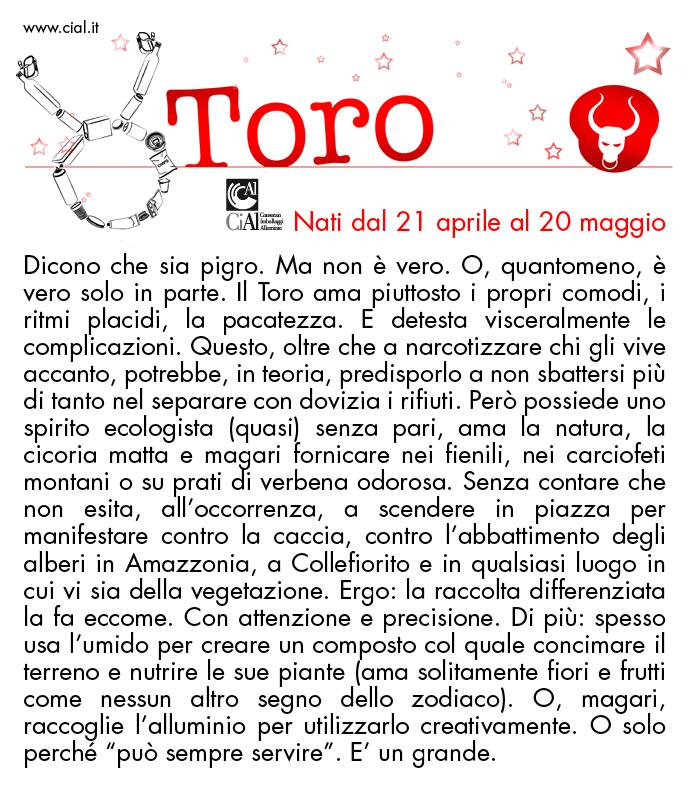 L oroscopo della raccolta differenziata cial - Toro e bilancia a letto ...