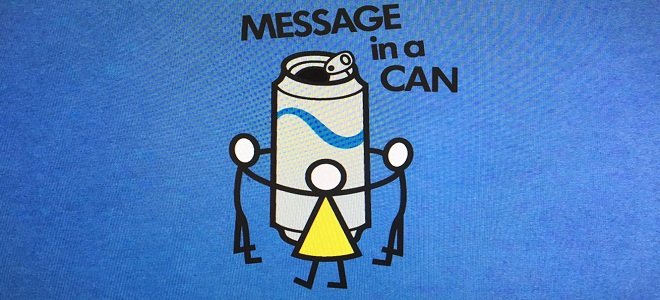 message in a can